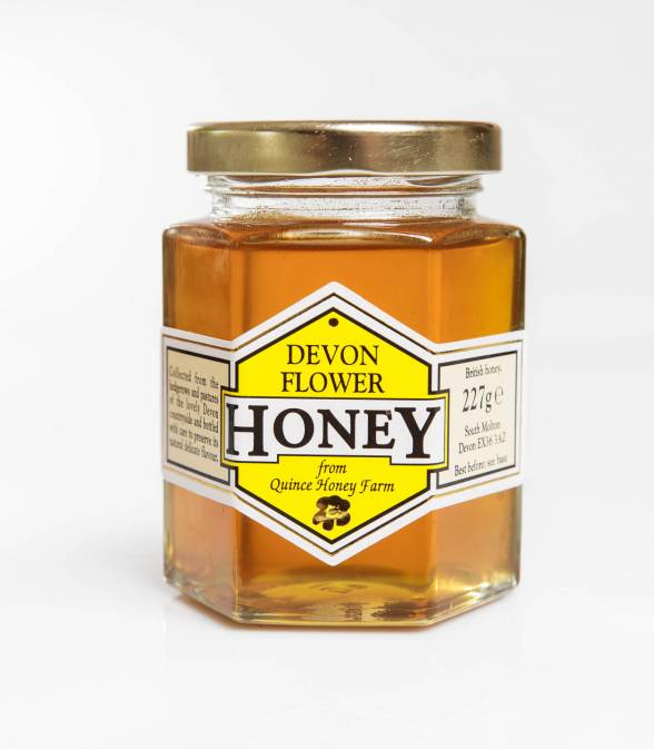 devon flower honey clear 227g
