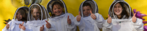 kids with bees